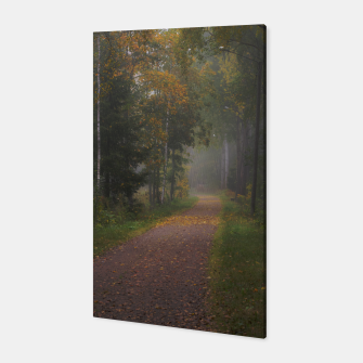 Thumbnail image of Misty autumn path Canvas, Live Heroes
