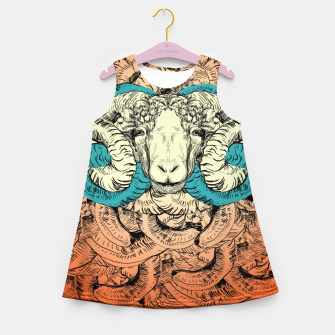 Miniatur Khnum  Girl's Summer Dress, Live Heroes