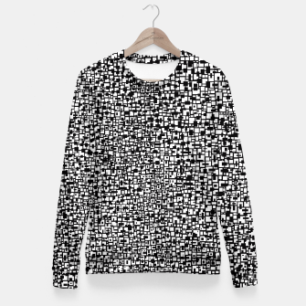 Miniatur Black & White 11  Fitted Waist Sweater, Live Heroes