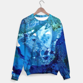 Thumbnail image of Environmental Blue Leaves, Tiny World Collection Sweater, Live Heroes