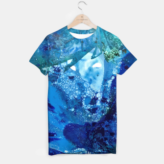 Thumbnail image of Environmental Blue Leaves, Tiny World Collection T-shirt, Live Heroes