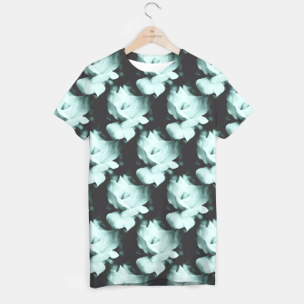 Thumbnail image of Vintage Roses Blue Pattern T-shirt, Live Heroes