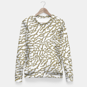 Miniatur Gold elephant skin Fitted Waist Sweater, Live Heroes