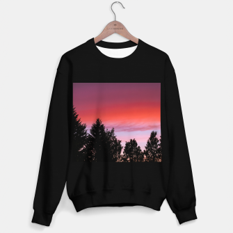 Miniatur Sunset and trees Sweater regular, Live Heroes