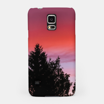 Miniatur Sunset and trees Samsung Case, Live Heroes