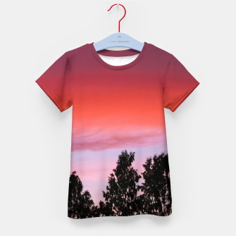 Miniatur Sunset and trees Kid's T-shirt, Live Heroes