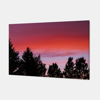 Miniatur Sunset and trees Canvas, Live Heroes