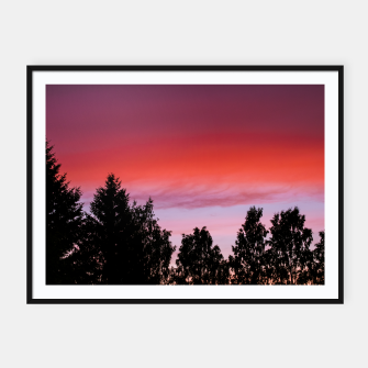 Miniatur Sunset and trees Framed poster, Live Heroes