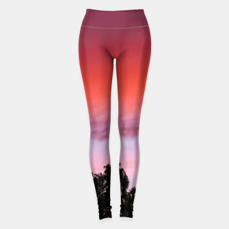 Thumbnail image of Sunset and trees Leggings, Live Heroes