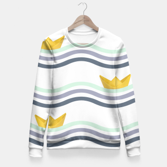 Miniatur Origami sea Fitted Waist Sweater, Live Heroes