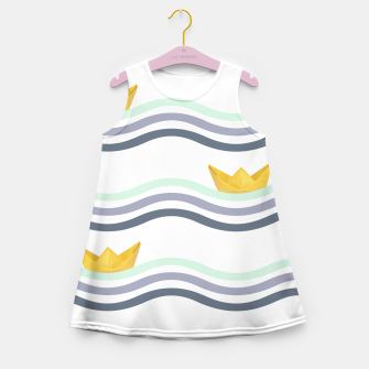 Miniatur Origami sea Girl's Summer Dress, Live Heroes