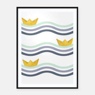 Miniatur Origami sea Framed poster, Live Heroes