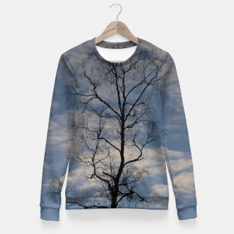 Miniatur Tree and sky Fitted Waist Sweater, Live Heroes