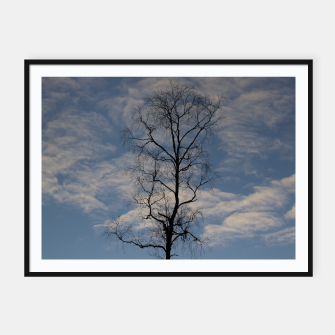 Miniatur Tree and sky Framed poster, Live Heroes