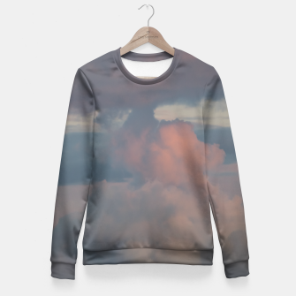 Miniatur Sunset clouds 2 Fitted Waist Sweater, Live Heroes