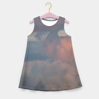 Miniatur Sunset clouds 2 Girl's Summer Dress, Live Heroes