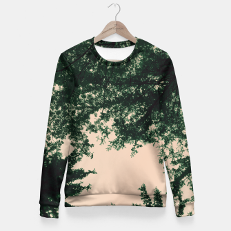 Miniatur Trees and sky Fitted Waist Sweater, Live Heroes