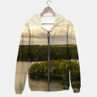 Thumbnail image of Forest and lake Hoodie, Live Heroes