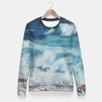 Miniatur Waves Fitted Waist Sweater, Live Heroes