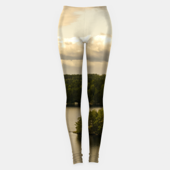 Miniaturka Forest and lake Leggings, Live Heroes