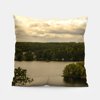 Miniatur Forest and lake Pillow, Live Heroes