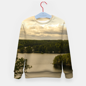 Thumbnail image of Forest and lake Kid's Sweater, Live Heroes