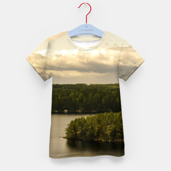 Miniatur Forest and lake Kid's T-shirt, Live Heroes
