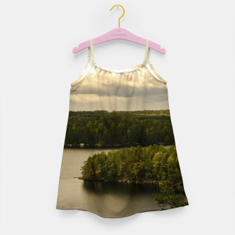 Miniatur Forest and lake Girl's Dress, Live Heroes