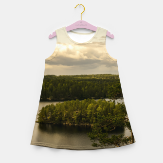Miniatur Forest and lake Girl's Summer Dress, Live Heroes