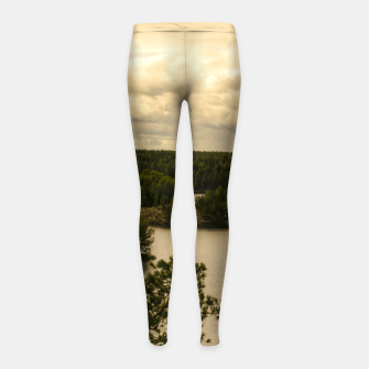 Miniatur Forest and lake Girl's Leggings, Live Heroes