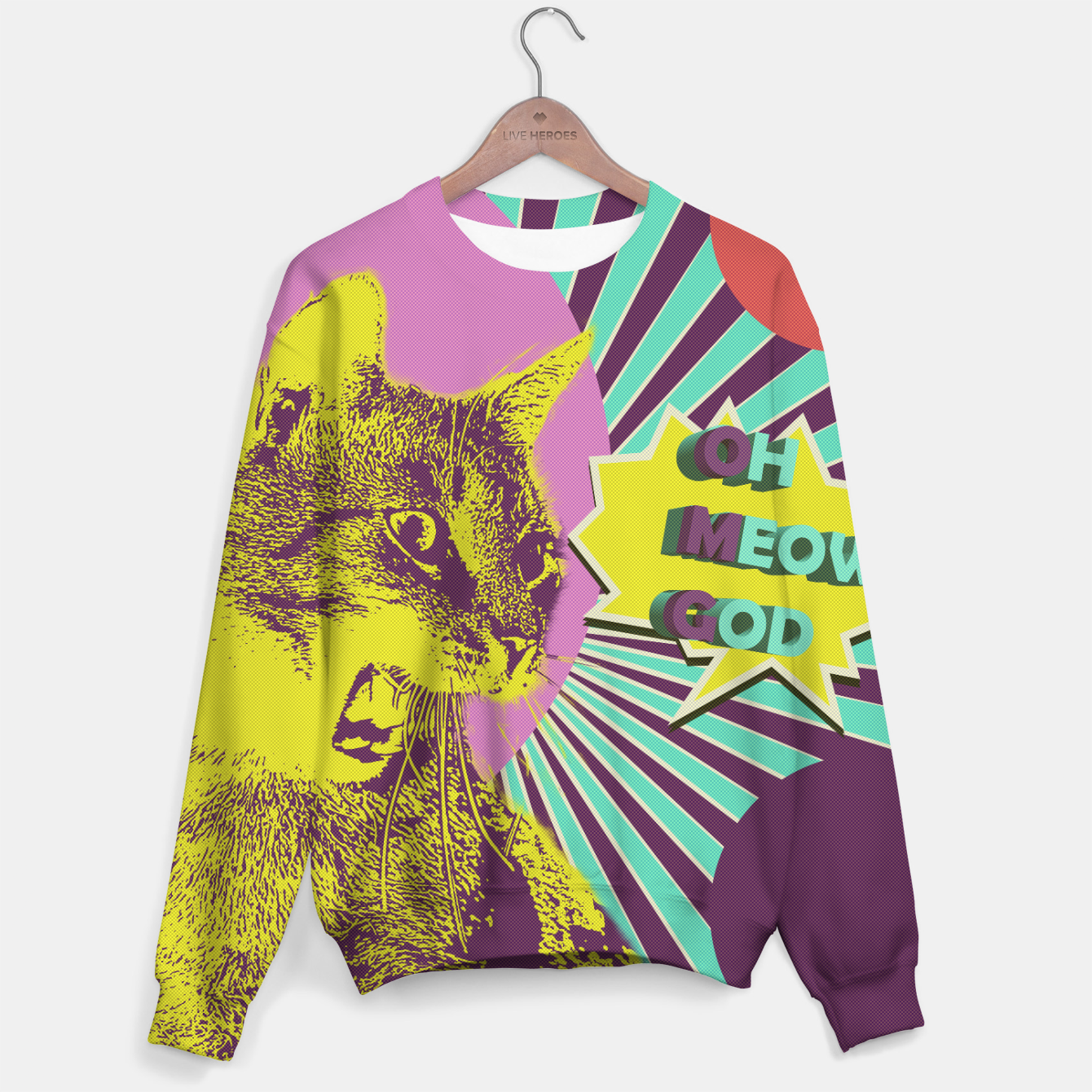 Image of OMG cat Sweater - Live Heroes