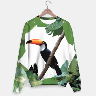 Thumbnail image of Toucan and leaves Sweater, Live Heroes