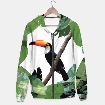 Thumbnail image of Toucan and leaves Hoodie, Live Heroes