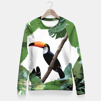Miniatur Toucan and leaves Fitted Waist Sweater, Live Heroes