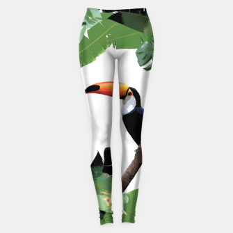 Miniaturka Toucan and leaves Leggings, Live Heroes