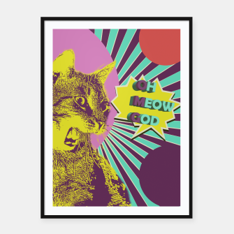 OMG cat Framed poster thumbnail image