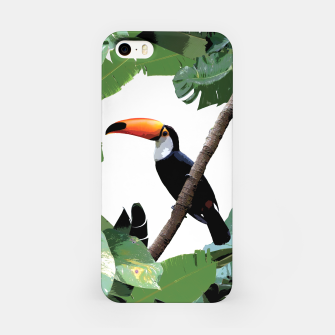 Miniaturka Toucan and leaves iPhone Case, Live Heroes