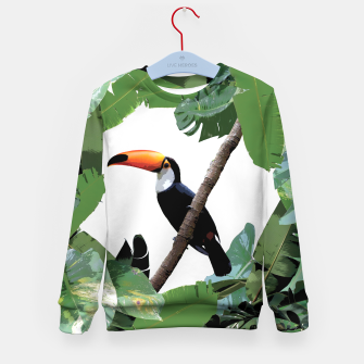 Thumbnail image of Toucan and leaves Kid's Sweater, Live Heroes