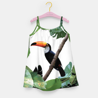 Miniatur Toucan and leaves Girl's Dress, Live Heroes