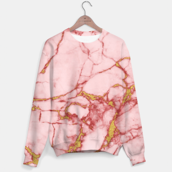 Thumbnail image of Blush Gold Marble v2 Sweater, Live Heroes
