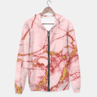 Thumbnail image of Blush Gold Marble v2 Hoodie, Live Heroes