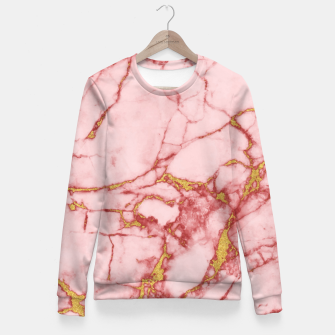 Miniatur Blush Gold Marble v2 Fitted Waist Sweater, Live Heroes