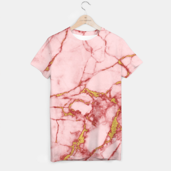 Thumbnail image of Blush Gold Marble v2 T-shirt, Live Heroes