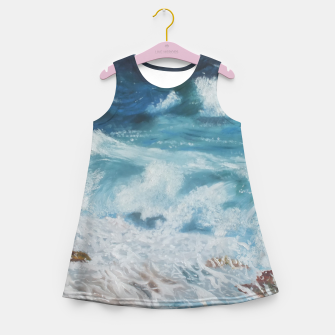 Miniatur Waves Girl's Summer Dress, Live Heroes