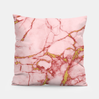 Thumbnail image of Blush Gold Marble v2 Pillow, Live Heroes