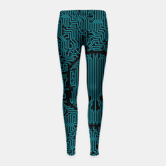 Thumbnail image of Bad Circuit Girl's Leggings, Live Heroes