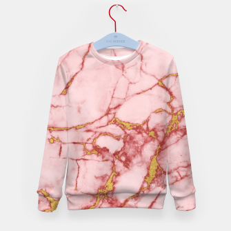 Thumbnail image of Blush Gold Marble v2 Kid's Sweater, Live Heroes