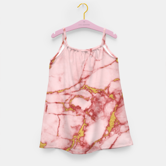 Thumbnail image of Blush Gold Marble v2 Girl's Dress, Live Heroes