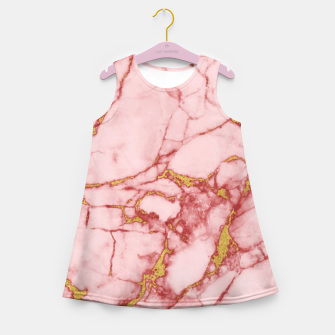 Miniatur Blush Gold Marble v2 Girl's Summer Dress, Live Heroes