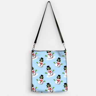 Miniatur Cool Snowman with Shades and Adorable Smirk Winter pattern Handbag, Live Heroes